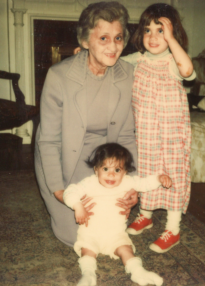 "My dad's mom, Emilia Gentile (""Mia""), with my older sister and me at our home in Washington, D.C. in 1975. She visited us often when we were little, but I got to know her much better during my college years in Boston, where she lived her whole life. She died in 1997, one year after my graduation."