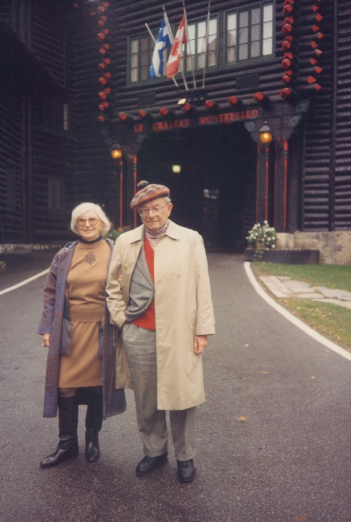 "My mom's parents, Dorothy and Henry Fischer, on vacation in Quebec in the early 1990s, around the time I started college. They lived a mile away from us throughout my childhood, but I grew much closer to them once I was an adult. My grandpa, ""Menu,"" died in 2005, when he was 93 and I was 30, and my grandma, ""Butzie,"" died six years later, at age 94."