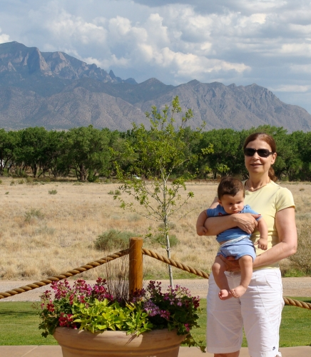 Ann Cosentino with her grandson, Luke, on a trip to Albuquerque, N.M., in 2008.