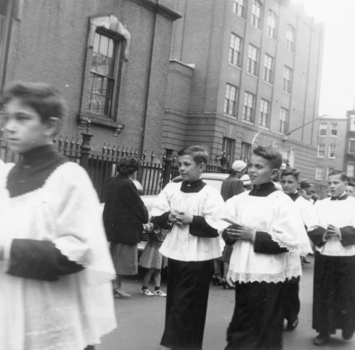 My dad (middle row, right) was an altar boy at St. Joseph's Church in the West End of Boston.