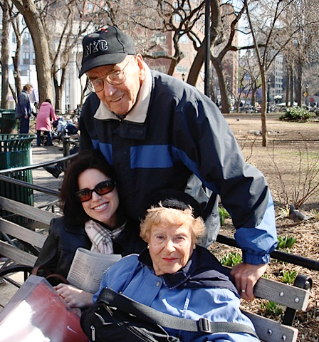 Lisa with Bernie and Edie in Manhattan in 2007. She and Edie had just shopped for a wedding dress in Union Square.