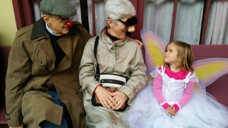 Craig and Tina Abernethy with their granddaughter, Calla, on Halloween last year.